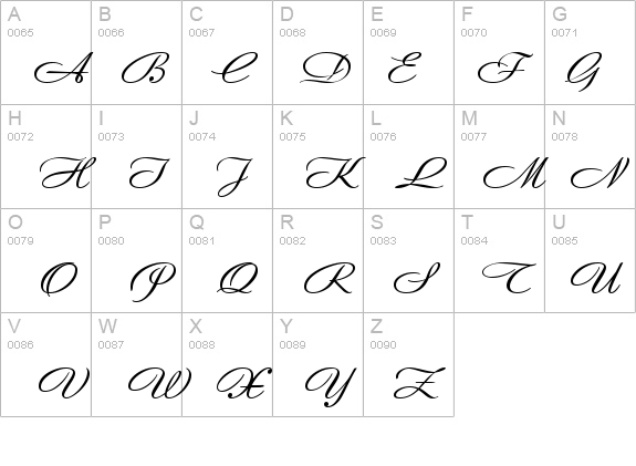 Andantino script details - Free Fonts at FontZone.net