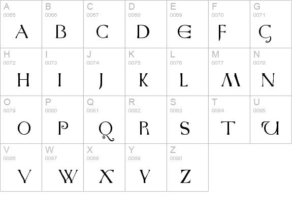Anglo Saxon Caps Font Fontzone