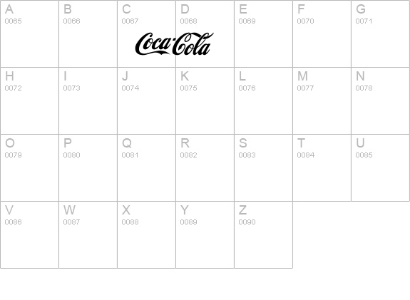 CocaCola details - Free Fonts at FontZone.net