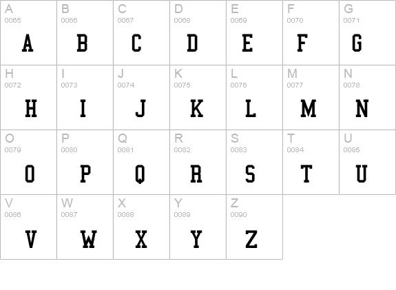 College Semi-condensed Font - FontZone net