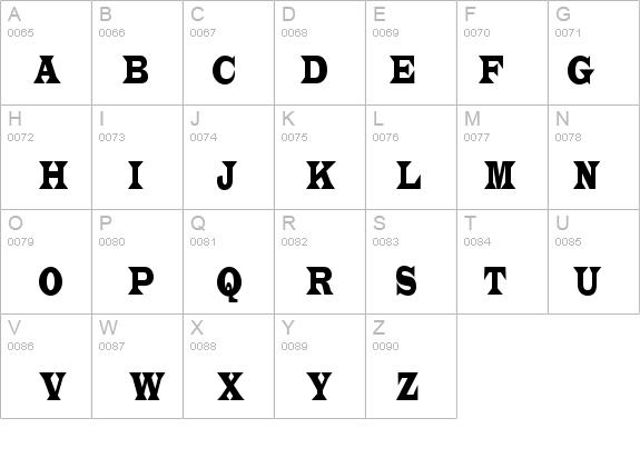 Latin Condensed Normal Font