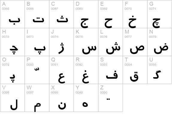 Persian details - Free Fonts at FontZone.net