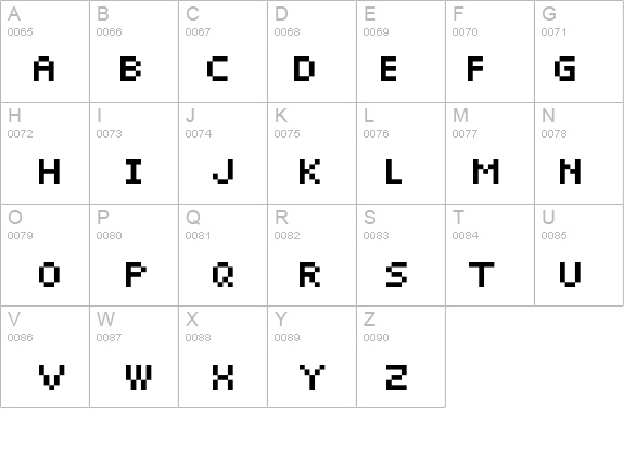 Pixelette details - Free Fonts at FontZone.net