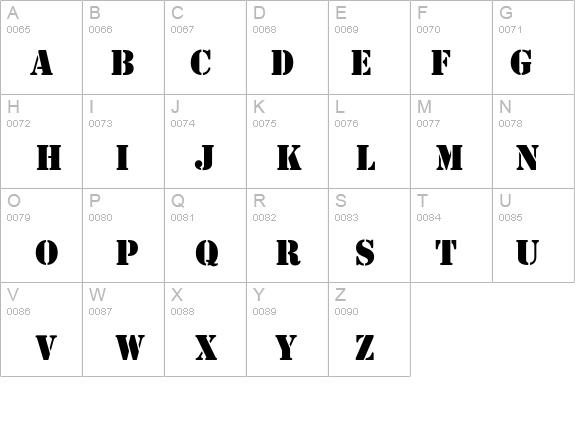 Stamp Normal Font