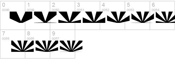 Half Sunburst Font Half Sunburst-w4-02 Details