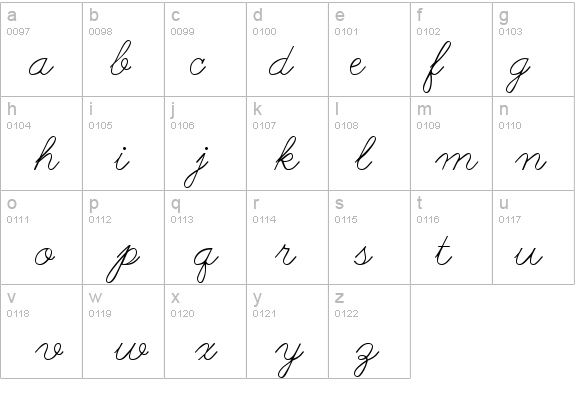 Worksheets The Cursive Abc abc cursive font fontzone net details free fonts at net