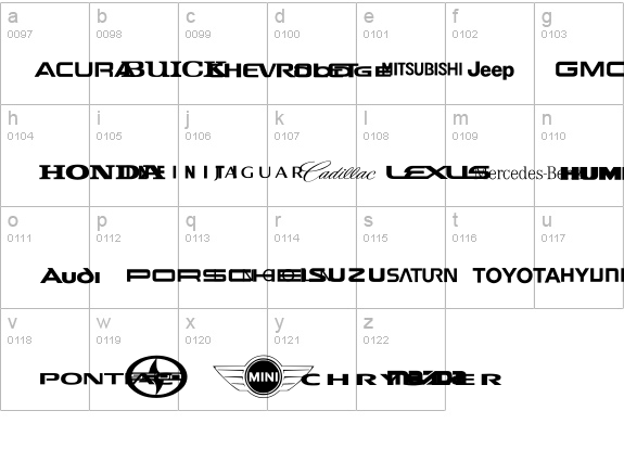 Auto Motive details - Free Fonts at FontZone.net