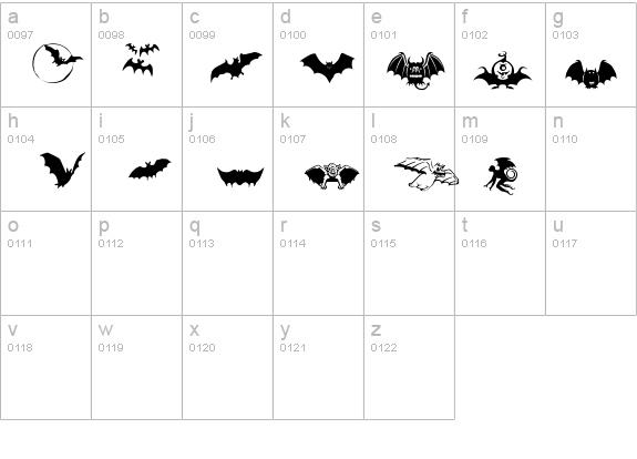 Bats-Symbols Font - FontZone net