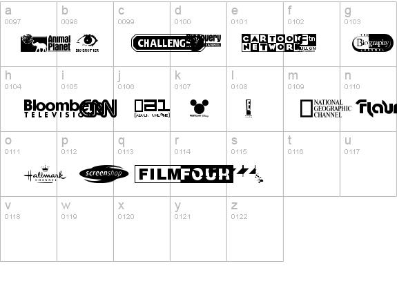 UK Digital TV Channel Logos Font - FontZone net