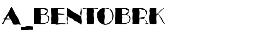 a_BentoBrk - Download Thousands of Free Fonts at FontZone.net