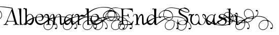 Albemarle End Swash - Download Thousands of Free Fonts at FontZone.net