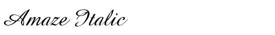 Amaze italic font