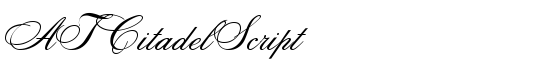 ATCitadelScript - Download Thousands of Free Fonts at FontZone.net
