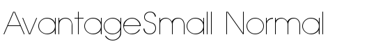 AvantageSmall Normal - Download Thousands of Free Fonts at FontZone.net