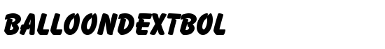 BalloonDExtBol - Download Thousands of Free Fonts at FontZone.net