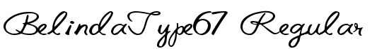 BelindaType67 Regular - Download Thousands of Free Fonts at FontZone.net