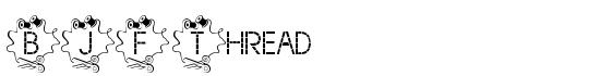 BJF Thread Font - FontZone.net