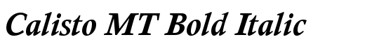 Calisto MT Bold Italic - Download Thousands of Free Fonts at FontZone.net