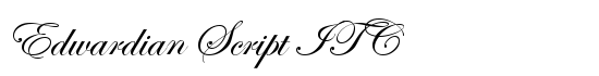 Edwardian Script ITC - Download Thousands of Free Fonts at FontZone.net