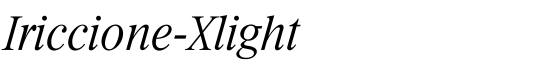 Iriccione-Xlight - Download Thousands of Free Fonts at FontZone.net