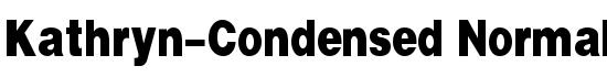 Kathryn-Condensed Normal Font - FontZone.net