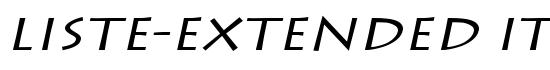 Liste-Extended Italic - Download Thousands of Free Fonts at FontZone.net