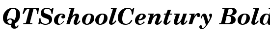 QTSchoolCentury Bold Italic - Download Thousands of Free Fonts at FontZone.net