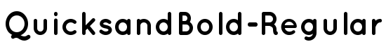 QuicksandBold-Regular - Download Thousands of Free Fonts at FontZone.net
