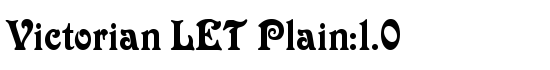 Victorian LET Plain:1.0 - Download Thousands of Free Fonts at FontZone.net